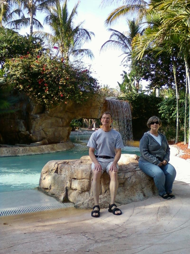 Relaxing at Coconut Plantation - Hyatt Resort down the street