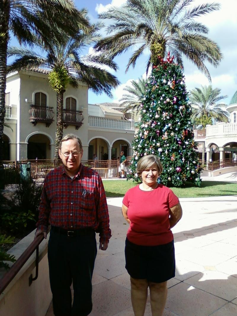 Diane and Dan Moak at the Promenade, Bonita Springs