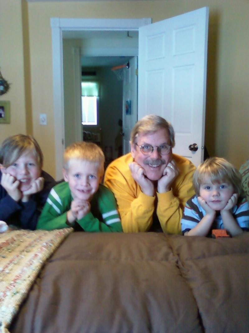 Christmas in the UP - Grandpa, Isaac, Gabe, & Andrew